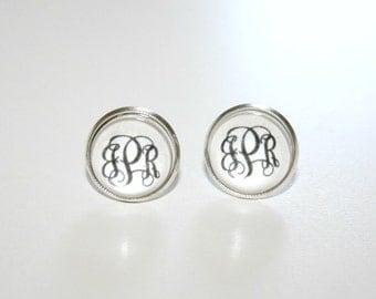 Monogramm Earrings, Monogram Jewelry, Monogram Accessories,