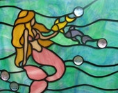 Mermaid with Fish Suncatcher