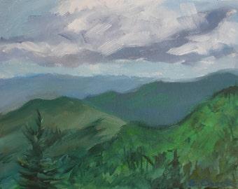 Stonyman Overlook  Mountains Original Oil Painting canvas 8x10
