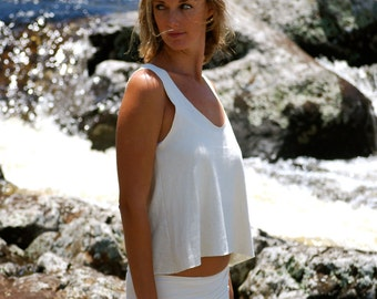 Loose Tank Top - Organic Cotton Hemp Jersey - Organic Clothing -  Boho Chic Cover Up