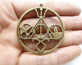 5pcs 42mm Antique Bronze Huge Popular Movies Symbol Charm Pendant C7993
