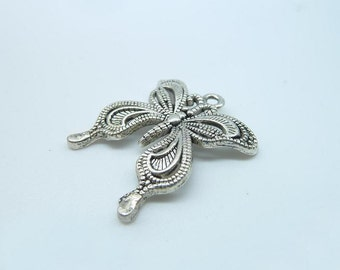 10pcs 13x14mm Antique Silver  Butterfly  Charm Pendant B230