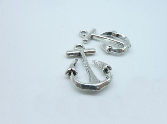15pcs 14x22mm Antique Silver Anchor With Rope Charm Pendant C2983