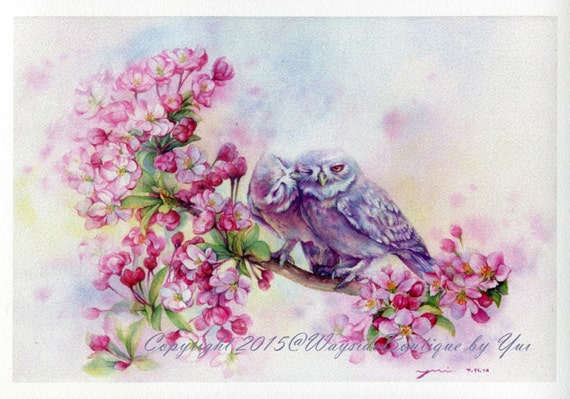 Print first kiss watercolor painting 7 3 x 11 for My first watercolor painting
