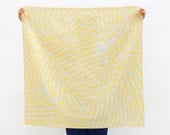 Free Shipping Worldwide _ Black Friday Offer >> Stripe furoshiki (yellow) Japanese eco wrapping textile/scarf, handmade in Japan