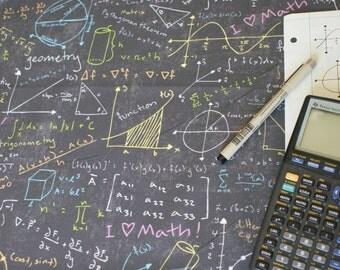 Math Lessons Fabric Fat Quarter