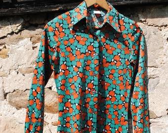 Vintage Jantzen 70s Apple Print Shirt