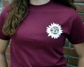 Sunflower Monogram Tee - Short Sleeve - Sorority Gift  - Bridesmaid Gift
