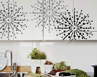 Round Wall Stencil - Firework burst - DIY Home Decor - Three sizes
