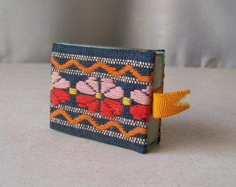 Vintage Match Box Holder Tapestry Fabric Match Box Safe 1980s