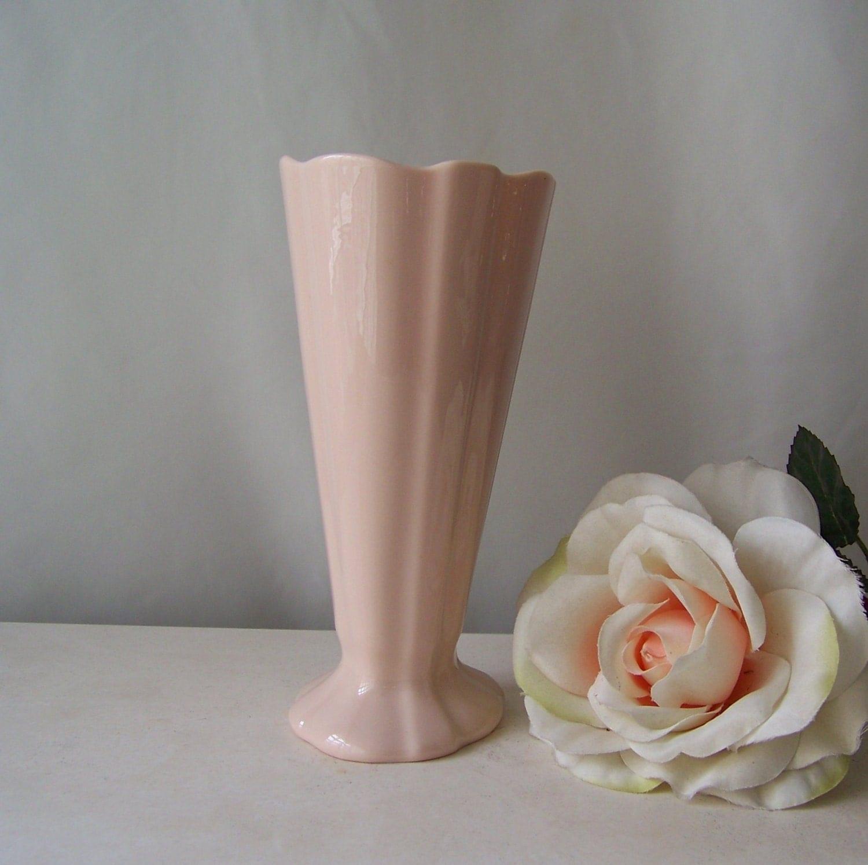 Vintage Lenox Pale Pink Vase 1950s Mid Century Decor Classic