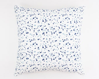 Schumacher Lulu DK Embroidered Skittles in Blueberry/Sky (On Both Sides) Pillow Covers