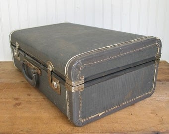 Vintage Space Pac Suitcase by Neevel - Blue Suitcase
