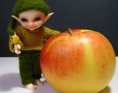 192. French and english pattern PDF - sweater, pants and hat for BJD Realpuki (10 cm doll)