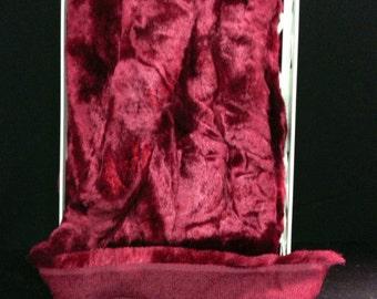 1.5 inch wide faux fur trim in various colors