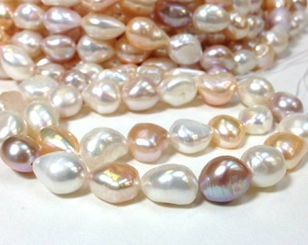 A Grade 10 to 14 mm Freshwater Pearl Nugget Beads - Multi Color - 15.5 Inch (G4431M58-BH)