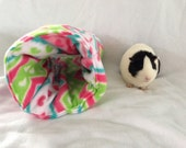 Fleece tunnel for guinea pig,rabbit, ferret, pet hideout, pigaloo, zig zag, pet sleeping bag. cage accessories, small animal toy, hideout