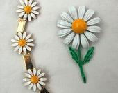 Vintage Daisy Bracelet & Pin