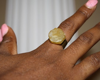 Taupe Chalcedony Ring by ChoklatTea