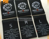 2400 custom woven labels for clothing