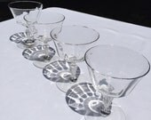 4 Crystal Cocktail or Champagne Coupes