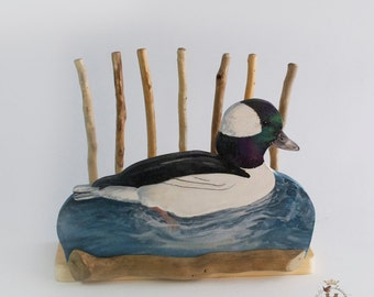 Bufflehead Duck Desk Organizer to Order