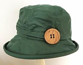 Green  PU Rain Hat