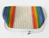 Rainbow Bright Woven Clutch