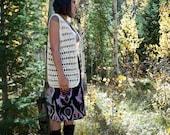 Creamy Crocheted Hippie Vest