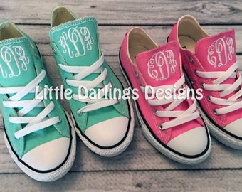 """Toddler and Little Kids Monogrammed """"Chuck Taylor"""" Converse Sneakers"""