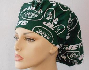 Bouffant Scrub Hat New York Jets Medical Scrub Hat - NFL NY Jets