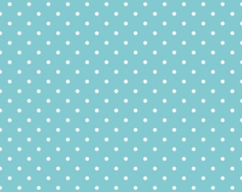 "12"" of Swiss Dot On Aqua by Riley Blake LAST PIECE"