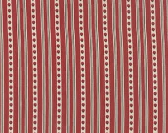 """13"""" Joyeux Noel Guirland Red Rouge Stripe by French General for Moda LAST PIECE"""
