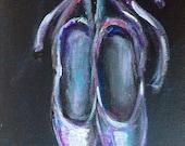 """Ballet shoes painting original art 7 x 5"""""""