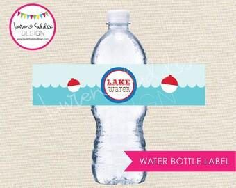 Gone Fishing Water Bottle Labels, Gone Fishing Water Bottle, Gone Fishing Birthday, Gone Fishing Printables, Lauren Haddox Designs