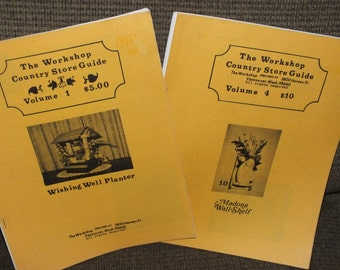 2 Vintage The Country Store Guide Books, Volume 1 and 4, from Vancouver Washington, Full Size Wood Craft Pattern Books