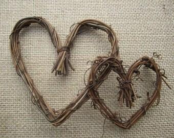 Grapevine Twig heart wreaths