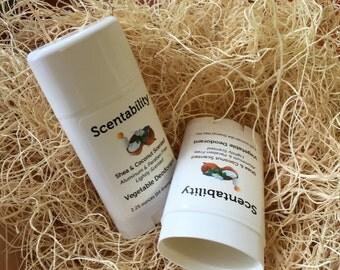 Vegetable Deodorant, Aluminum and Paraben Free! 2.25oz