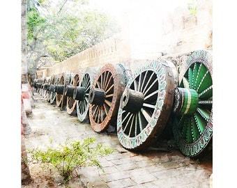 Travel art photography India painted chariot wheels Ratha yatra jagannath