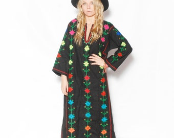 Vintage Hand Embroidered Ethnic Caftan, Tunic
