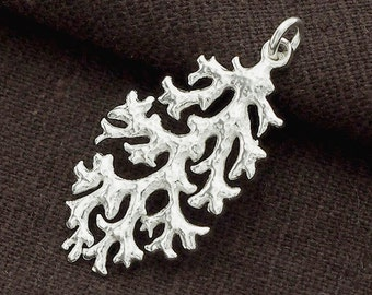 1 of 925 Sterling Silver  Coral Pendant 18x31mm. Polished  Finish :tm0049