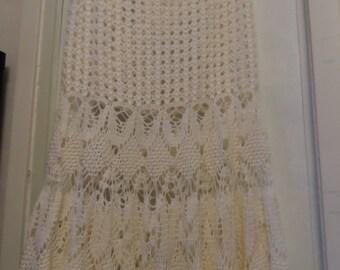 Crochet long maxi white lace girls womens size summer beach boho hippie wedding romantic long maxi hippie boho skirt