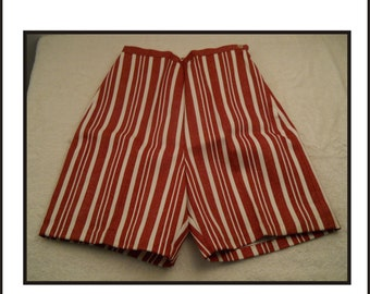 Vintage Ladies Shorts New Old Stock Red And White Stripped