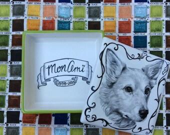 Ceramic box with custom portrait