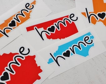 any state or country home vinyl sticker, your choice of color, all states and countries available
