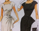Retro 50s Butterick Pattern No 5880 Size 14 16 18 20 22 EASY Dress Left Side Overlay 50s STYLE Vintage look New pattern Easy Dress Pattern