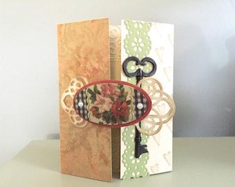 "Handmade ""Key to My Heart"" Blank Greeting Card"