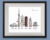 Toronto with Timbits- art print