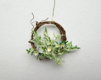 Think Spring in a Handmade Miniature Dollhouse Wreath