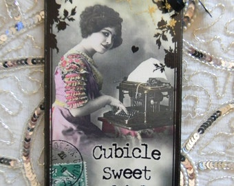 Cubicle Sweet Cubicle On Vacation Hanger Sign Plaque Cubicle Wall Decoration